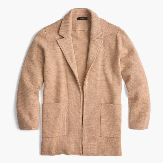 J Crew Sweater Blazer