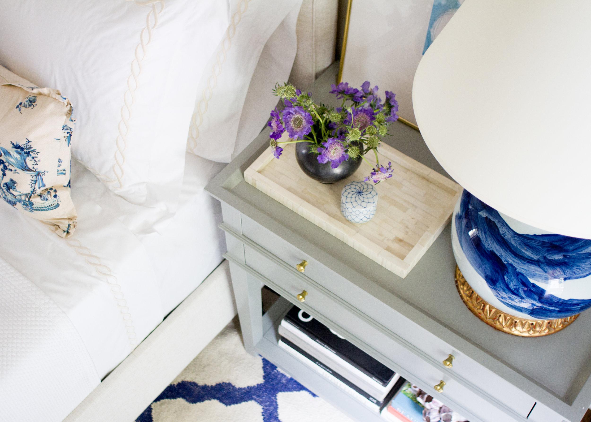 Serene Master Bedroom // Design by Pencil & Paper Co.