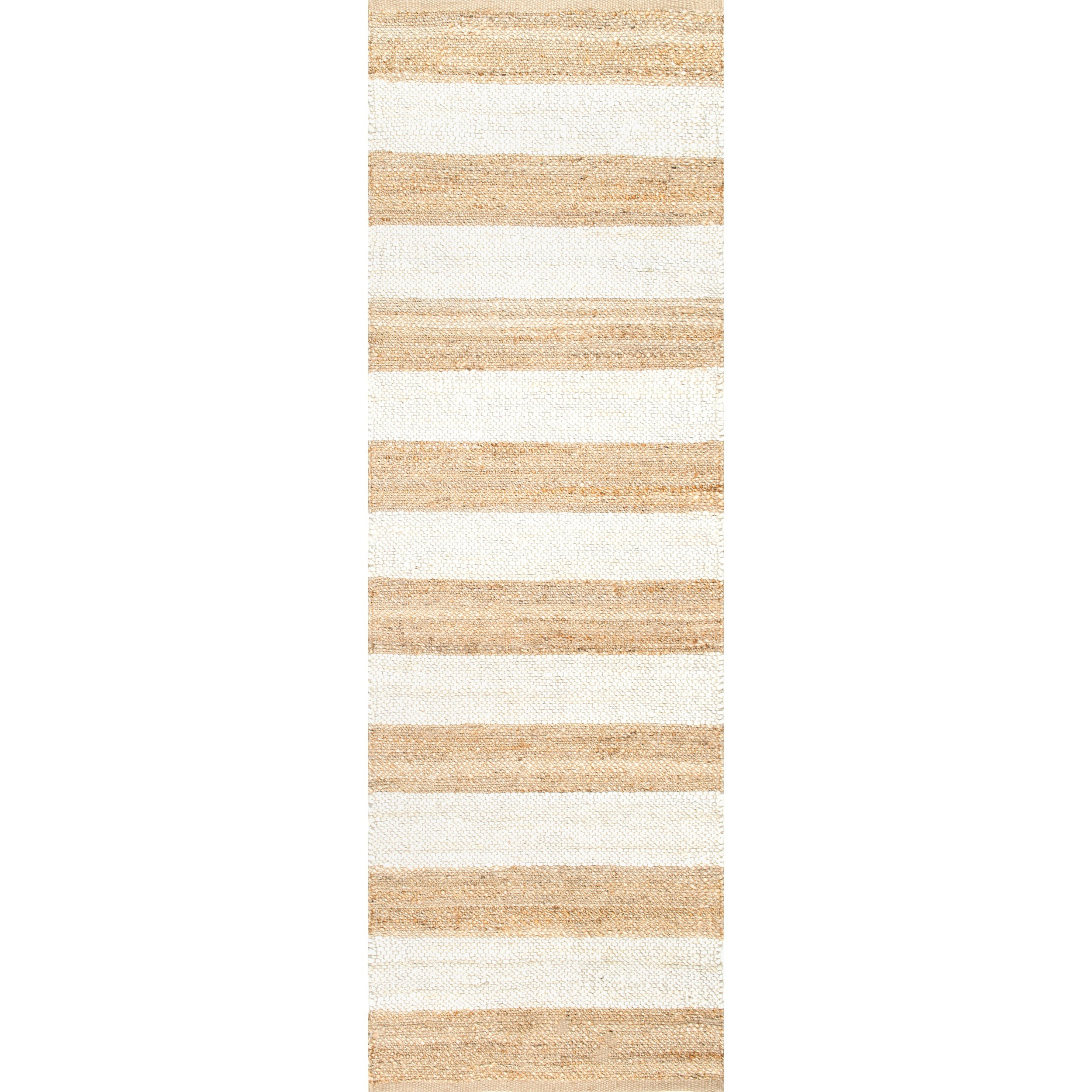 Natural Fiber Jute Thick Stripes Runner Rug // Pencil and Paper Co. Favorite Finds