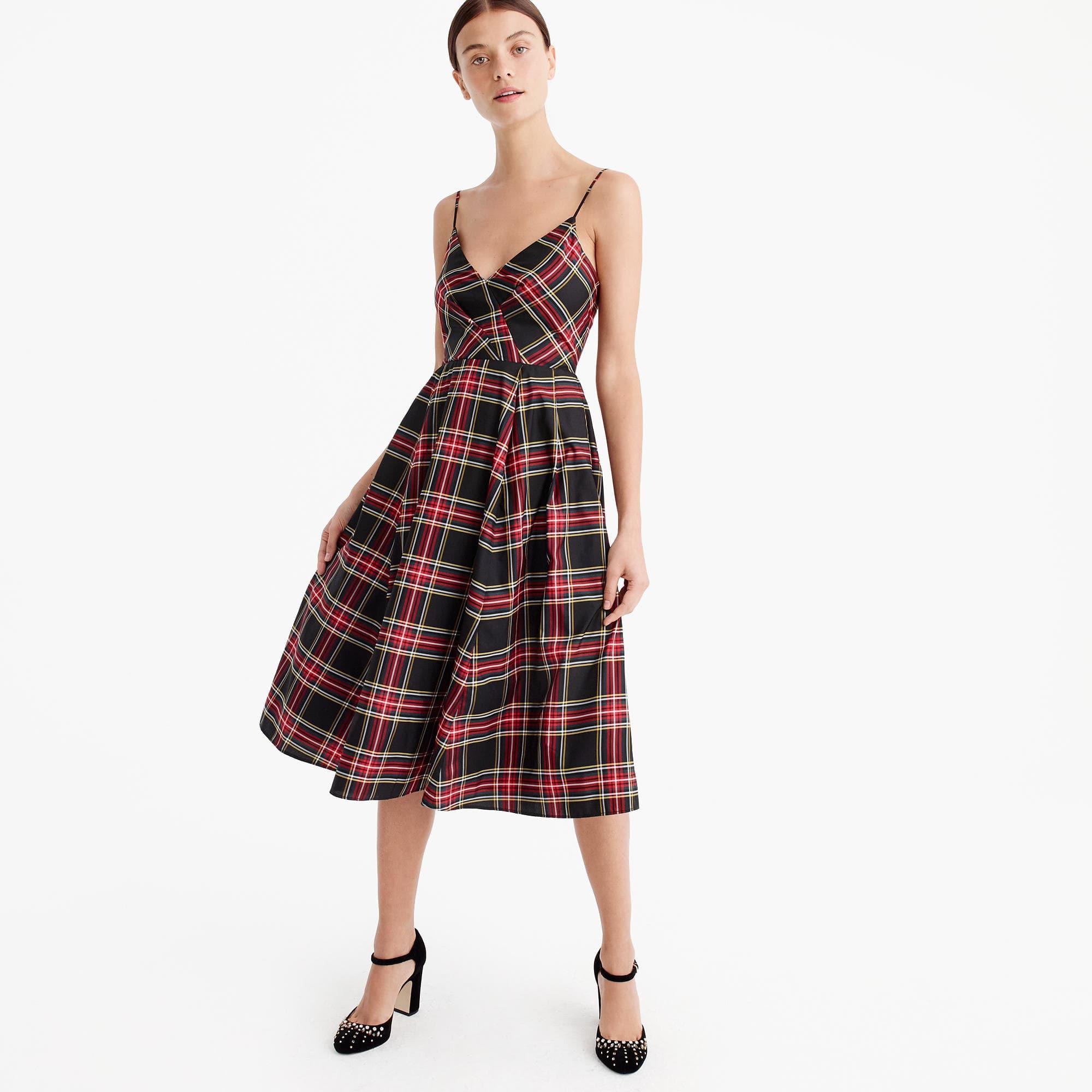 a-line spaghetti strap dress