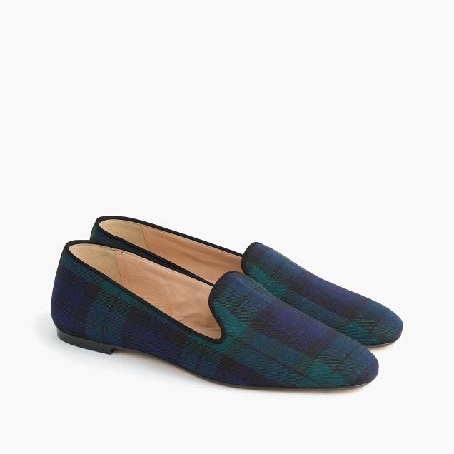 tartan loafers
