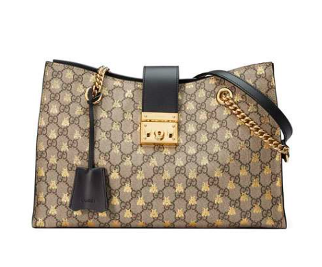 Gucci Canvas Bees Tote