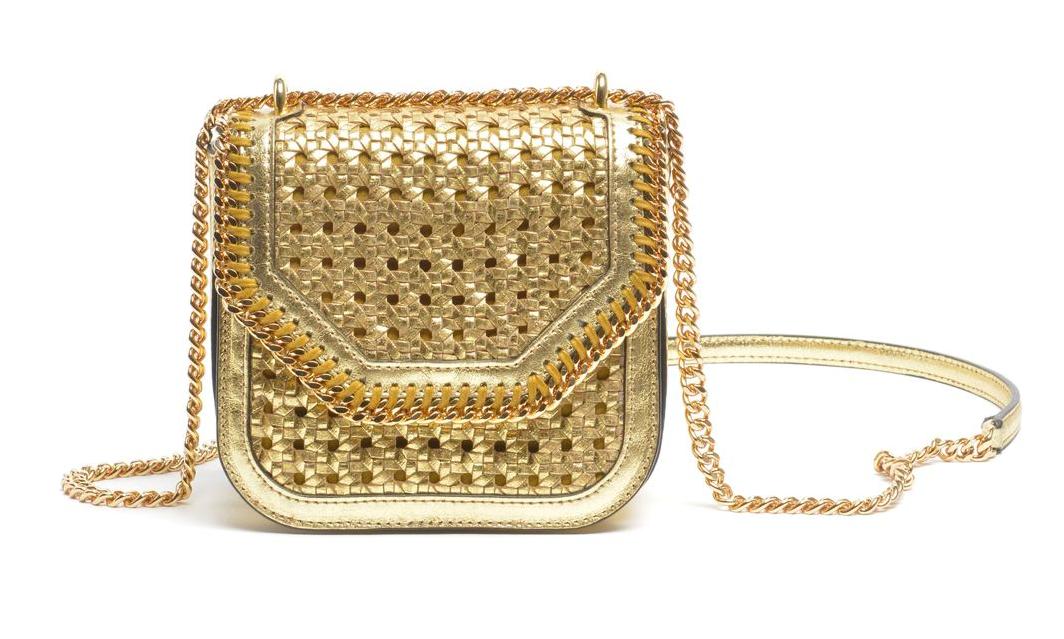 Metallic Wicker Shoulder Bag
