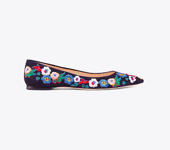 Embroidered Ballet Flat