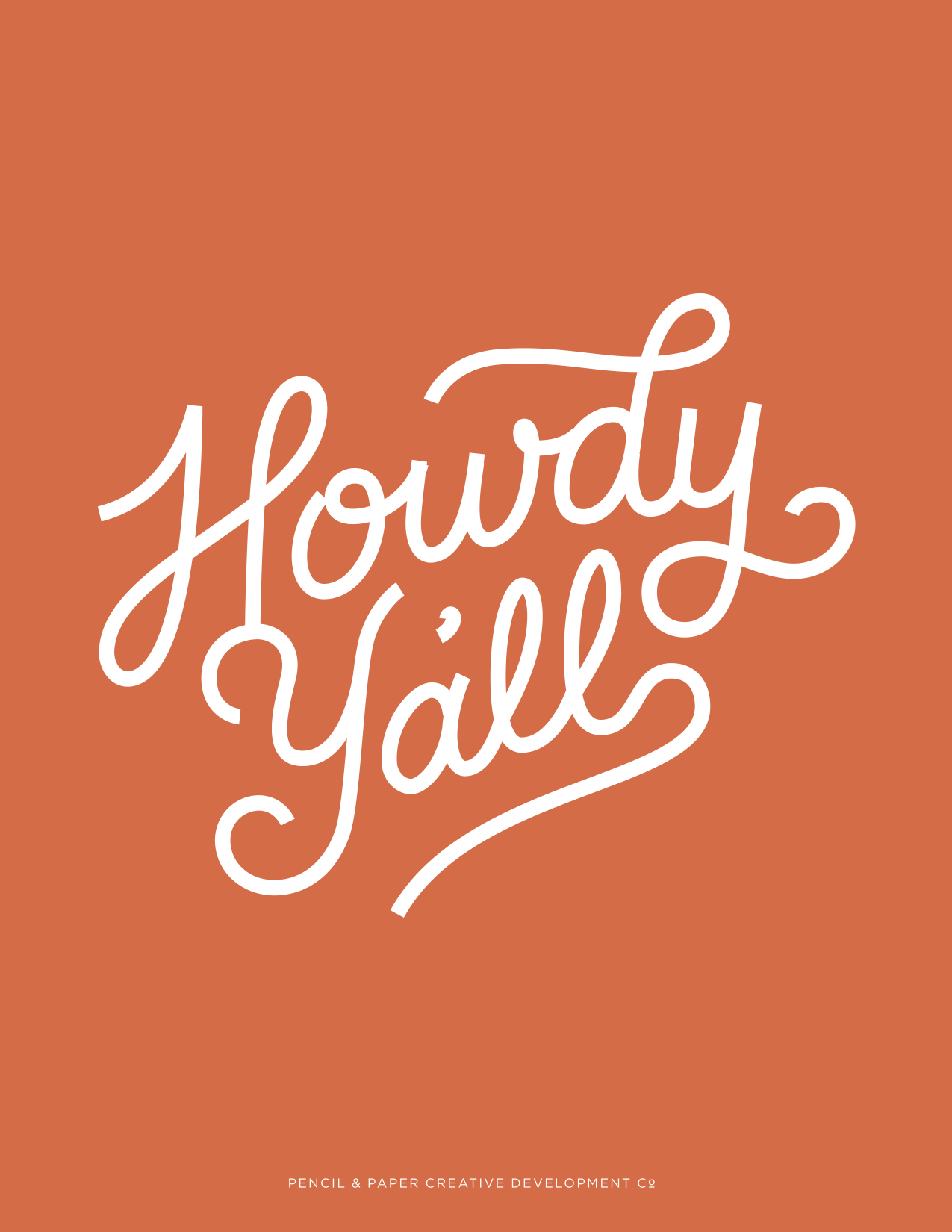 Howdy Y'all / Pencil & Paper Co.