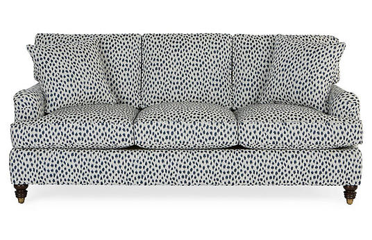Navy Spot Sleeper Sofa