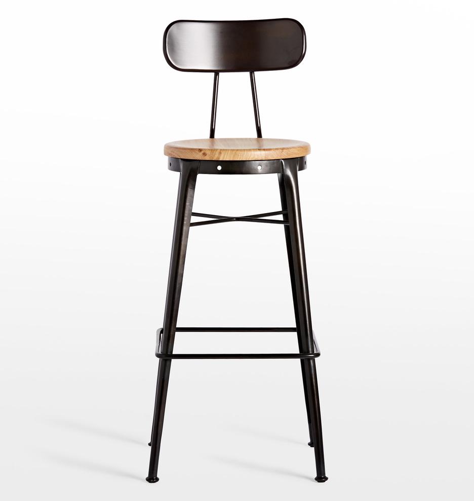 cobb bar stool with black