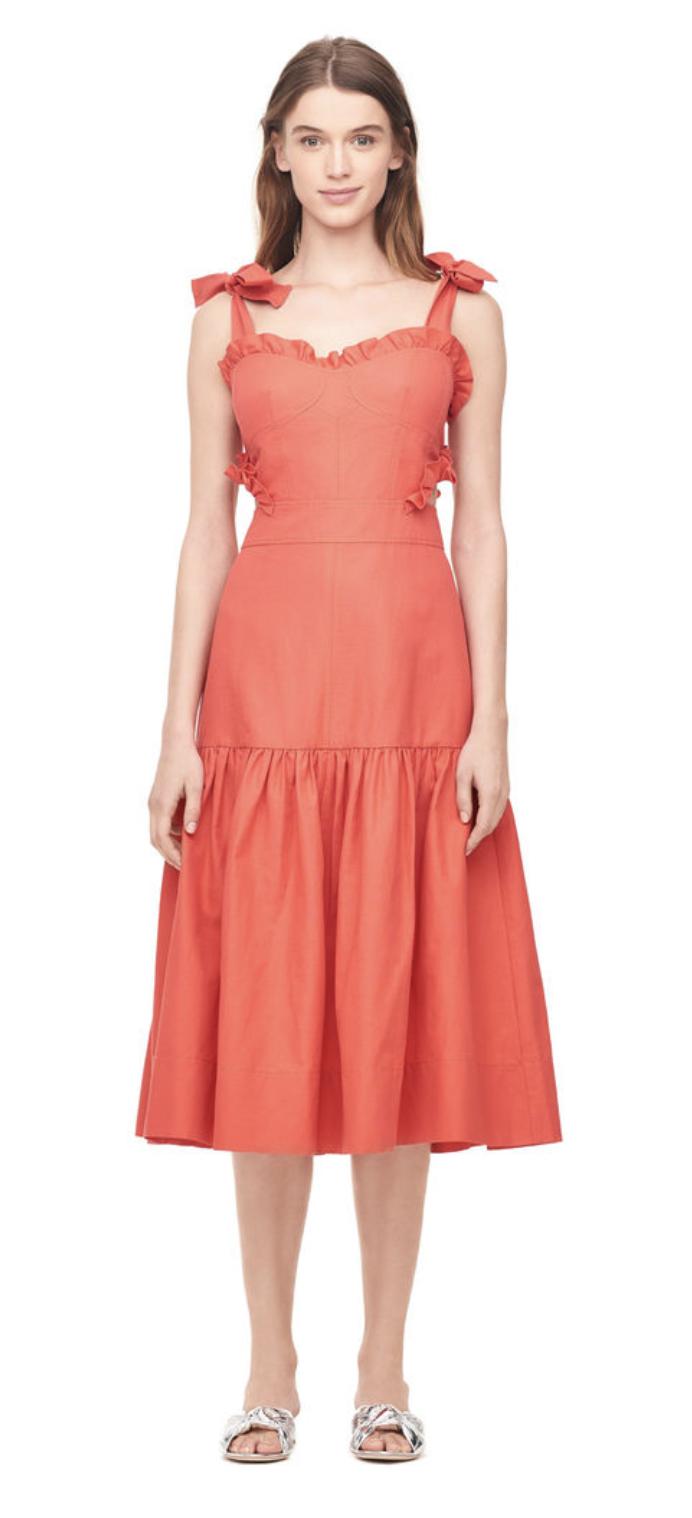 Crisp Cotton Midi Dress