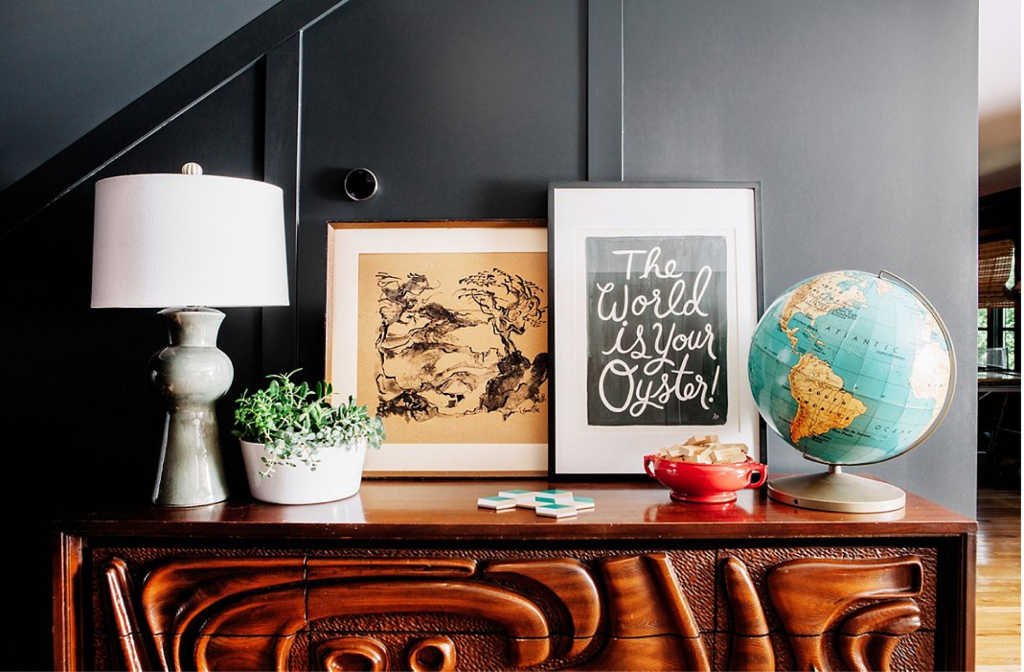 Design, featuring vintage finds, by  pencil & paper co.