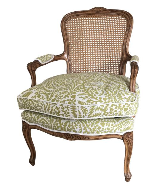 vintage cane louis chair