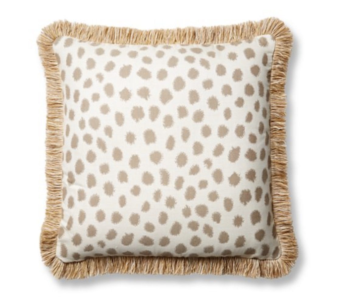 patterned outdoor pillow