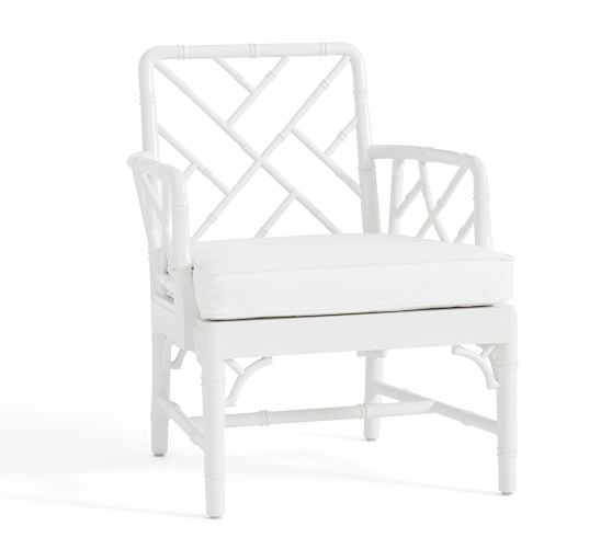 take 50% off the CUTEST bamboo chair at Pottery Barn right now!