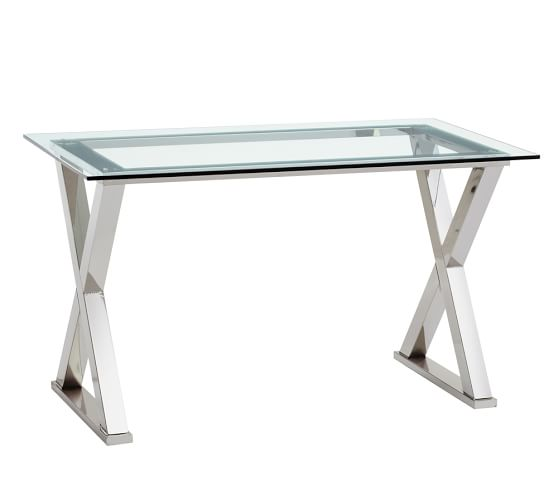 because working can be glamorous, too! we're eyeing this gorgeous metal desk from Pottery Barn.