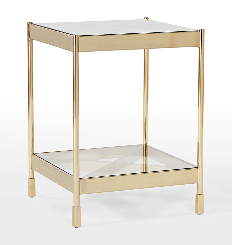 this brass-plated steel side table is downright stunning, and at a price point of under $300, we think it's certainly bang for your buck!
