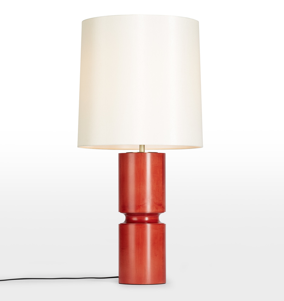 this bold lamp is one of our favorite colors (hello, the perfect orangey-red), and is currently on MAJOR sale at 50% off!