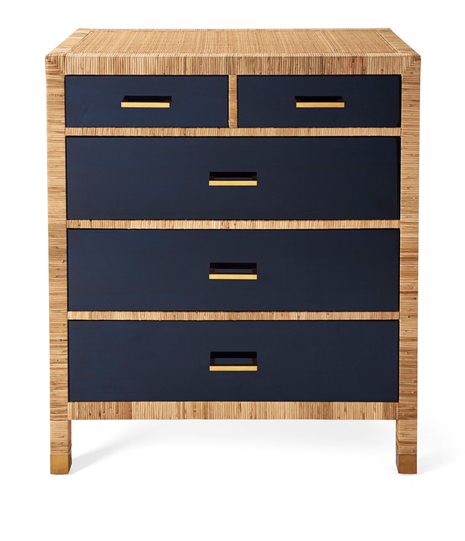 navy and rattan dresser  - $1499