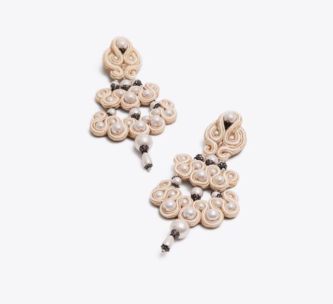 beaded chandelier earrings  - $97