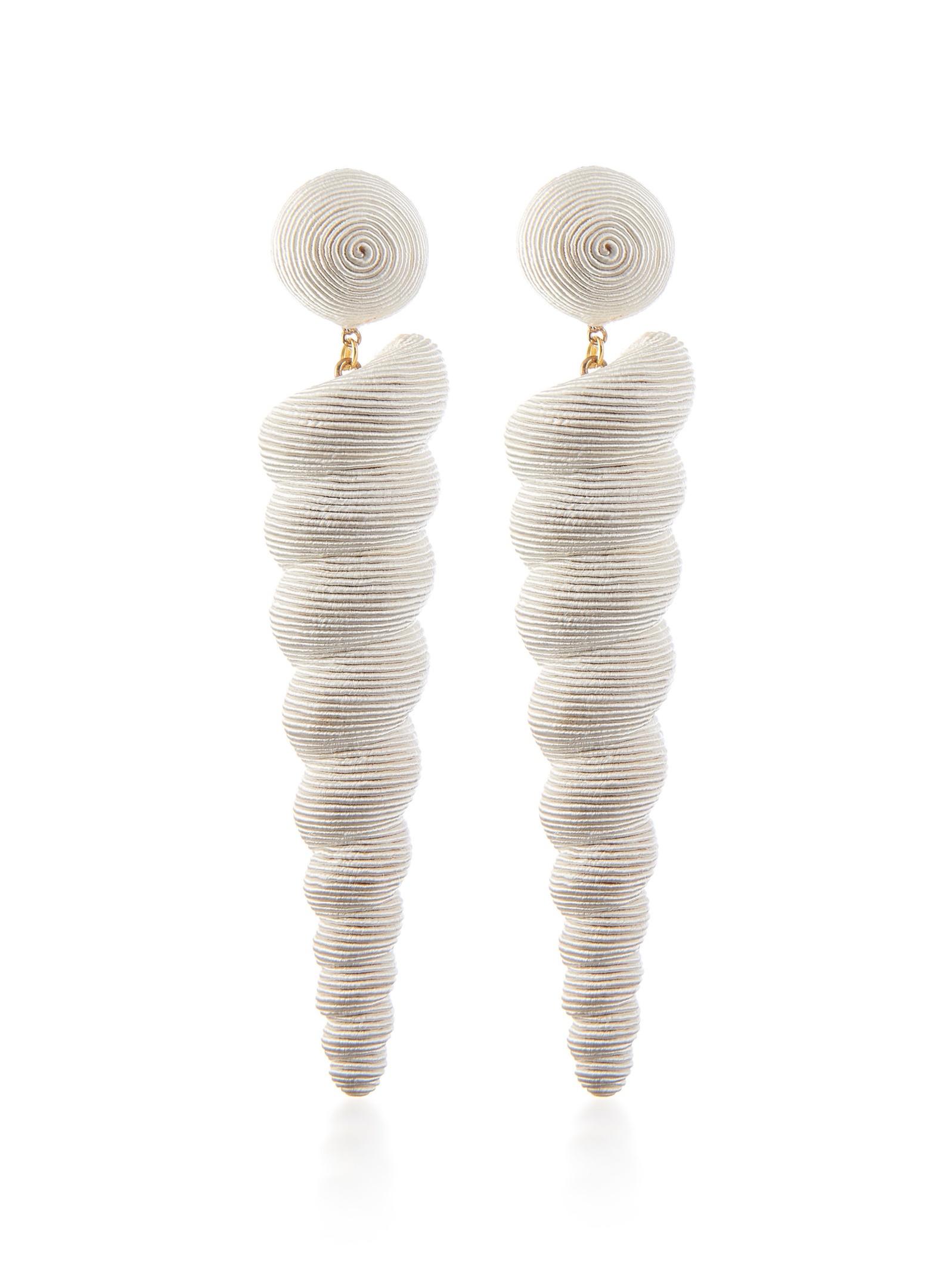 silk twist earrings  - $91