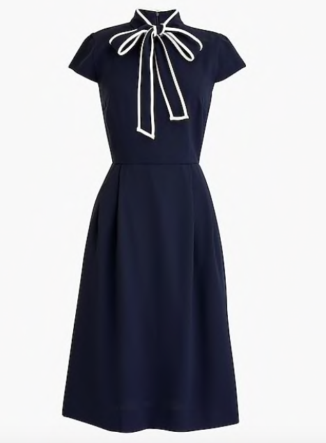 we've been swooning over tie neck pieces lately! snap up this  feminine dress  while it's under $100!