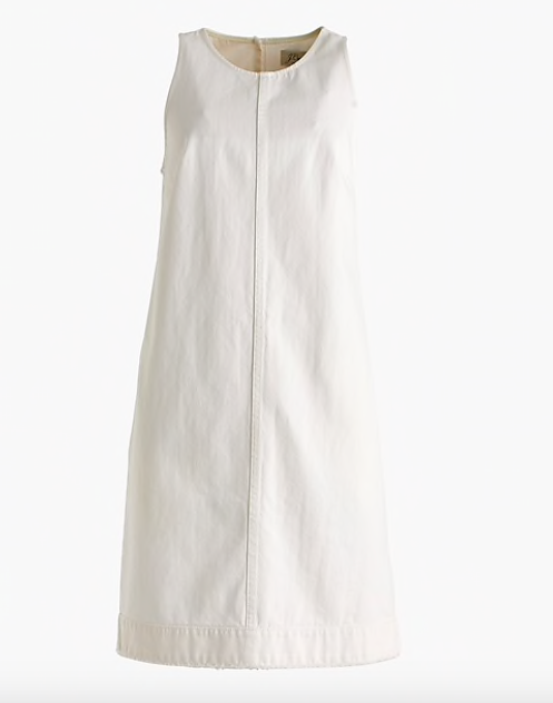 this  white shift dress  is made for summer and It's a deal at $53!