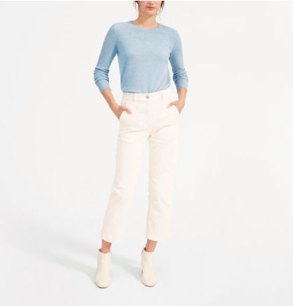 Give us  cashmere  everything! It couldn't get more classic than this  crewneck sweater.  We love how soft it is to the touch and the darling relaxed fit.
