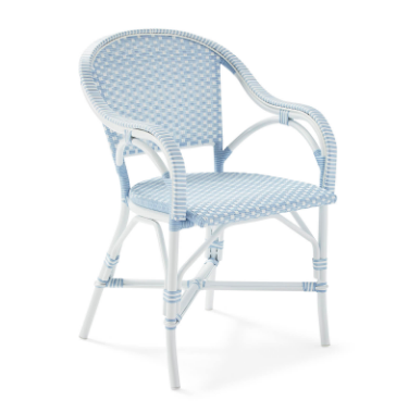 No Monday blues here! We'll be spending our sunny weekend sitting on our patio in this  iconic bistro chair ! We love this new piece from  Serena & Lily  and we are loving it!