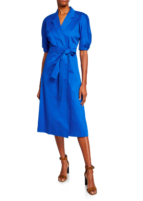 We are currently obsessed with this always flattering short-sleeve  wrap dress . we're most definitely adding it to our  getaway favorites  and lucky for you, you can earn up to  $500  when you make your  purchase !