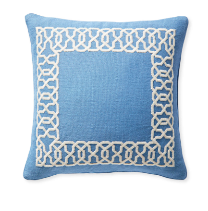 This  embroidered pillow  cover adds the perfect pattern pop to your space! It perfectly pairs with our  favorite sheet  set that's on sale today (under $200)!! If you're looking for new bedding, our-go to is having a  major sale !!