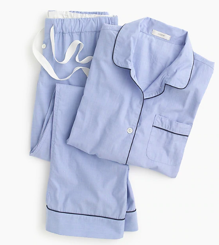 We aren't one to shy away from  cozy pajamas , and lucky for us, this vintage inspired  set  is 15% off today! You know we're a sucker for  chic pajamas  and every once in a while you may  spot us dressing them up  with a darling pair of  gold knot mules .
