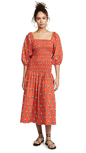 you know we can't resist a  patterned midi dress !
