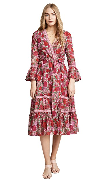 we're swooning over this  tiered wrap dress