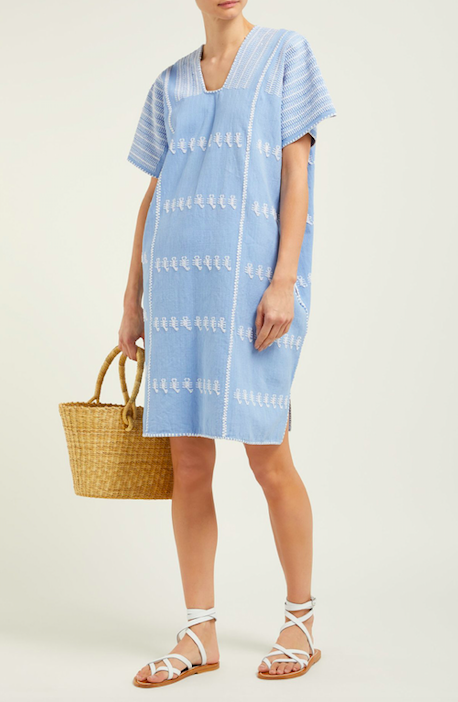 how happy is this  blue cotton caftan ?!?