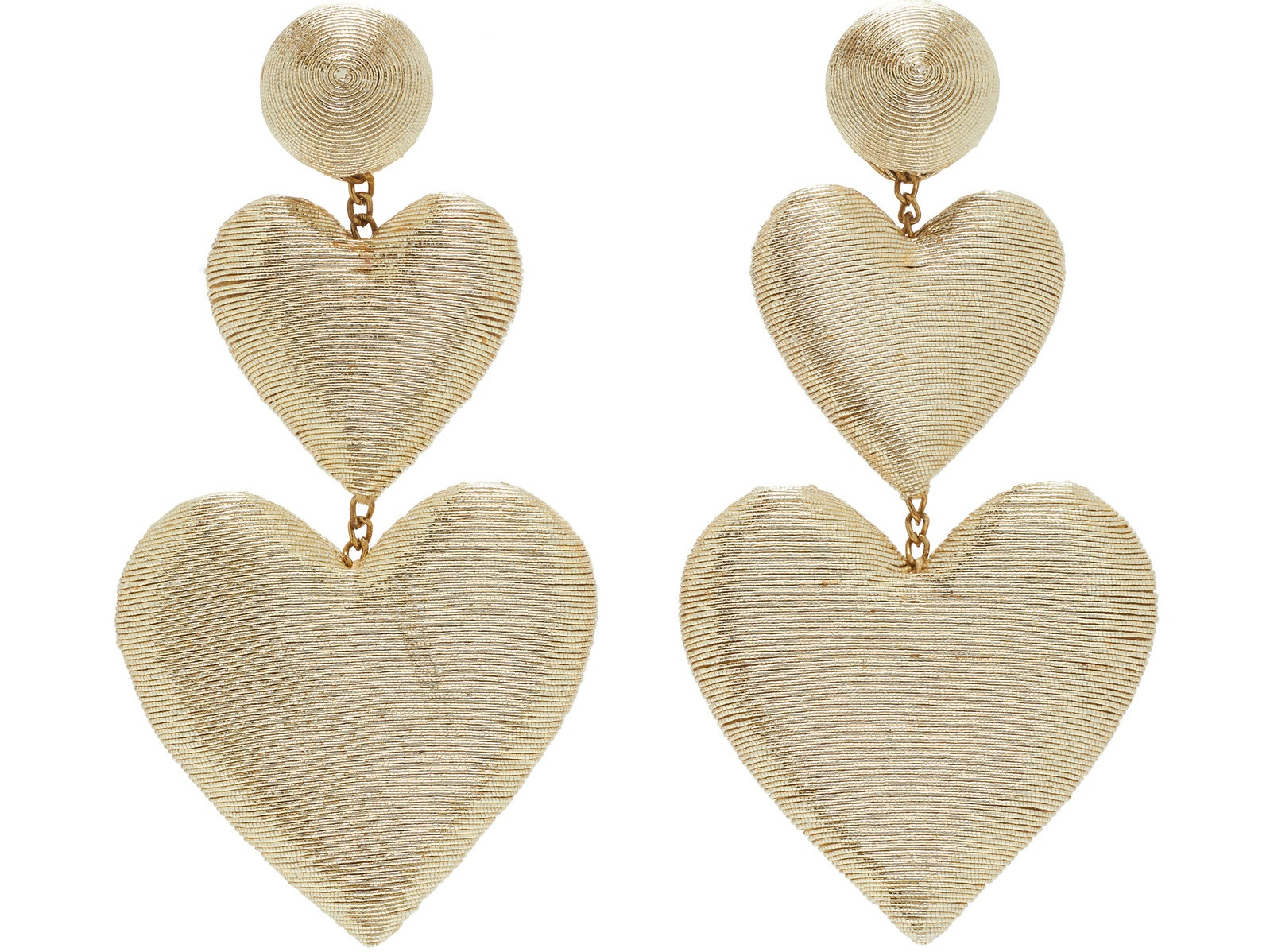 we adore these  double heart silk drop earrings  (and they come in three color options)!