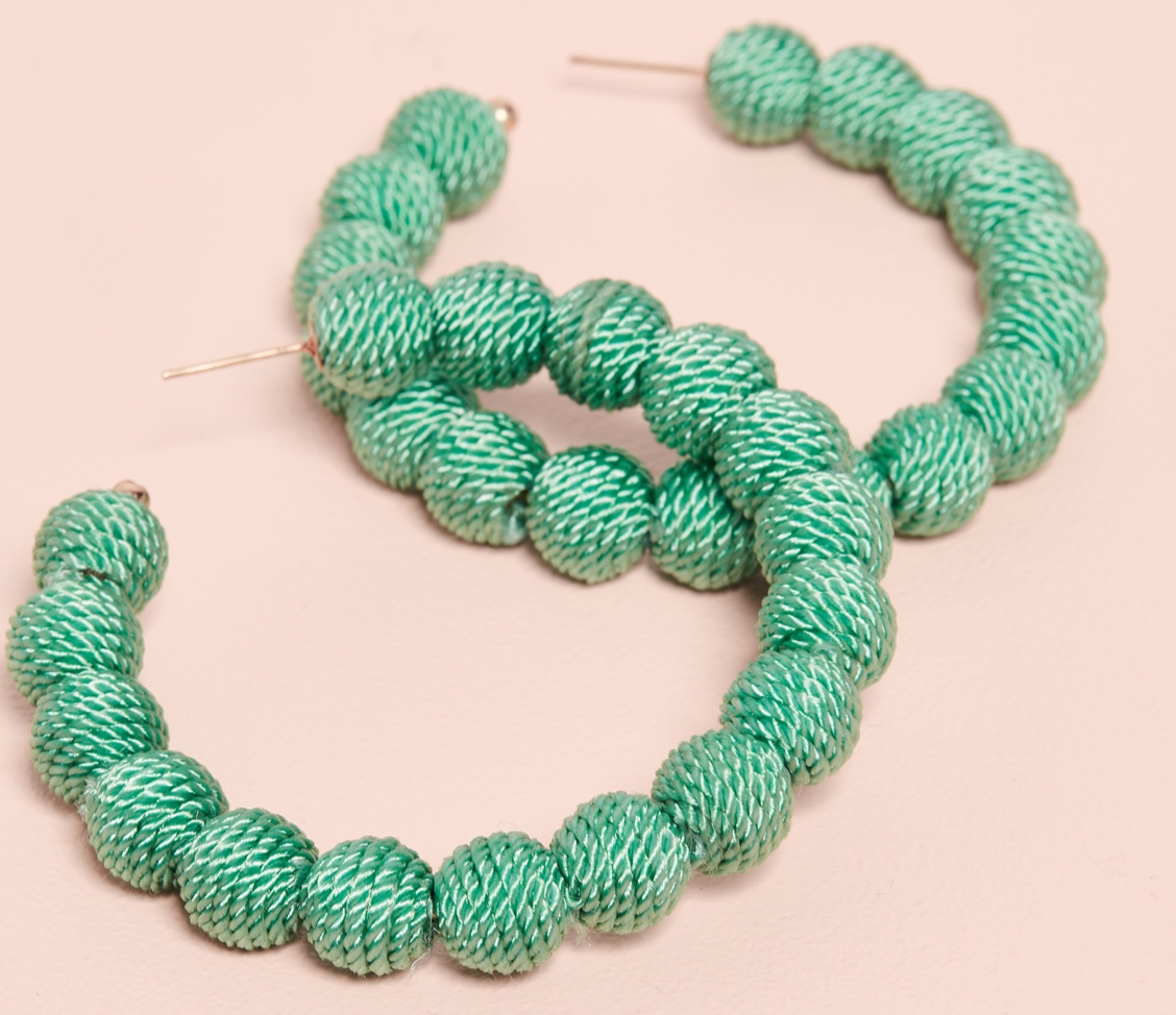 we're crushing hard on these  green hoops !