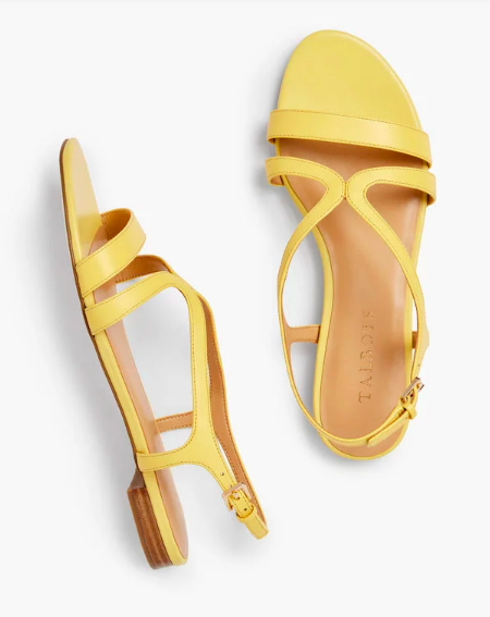 yellow is our happy color! we love these cheerful  strap sandals !
