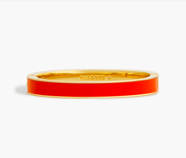 we love arm candy… especially when it comes in our  signature orangey red color !