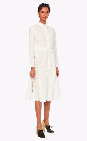we just added this sweet  scalloped shirtdress  to our carts!