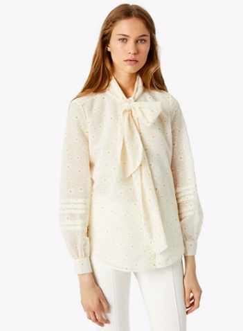 our  tie neck daisy blouse  is back in stock for under $150!!