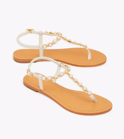 snap these  pearl sandals  up for all your warm weather outings!
