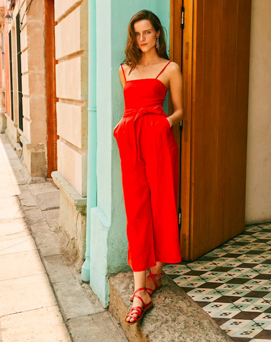 hello favorite color! we adore this  red jumpsuit !