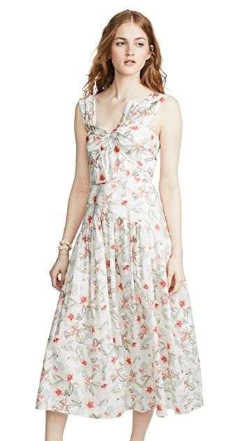 how darling is this  floral dress ?