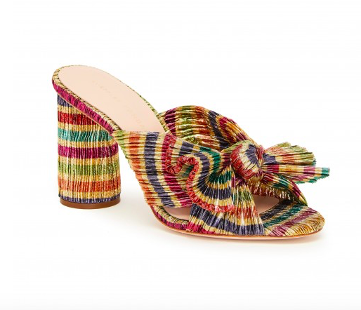 add a pop of color to your outfit with these  rainbow knot mules ! and they're 30% OFF today only!
