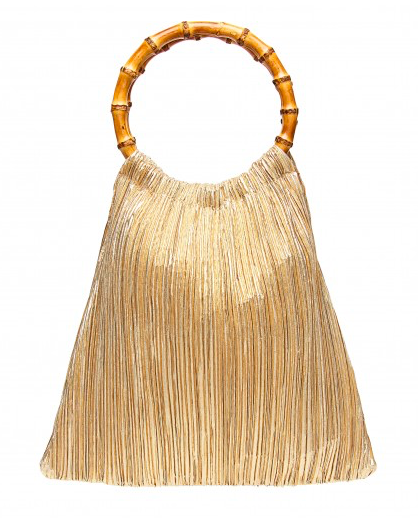 our hearts skipped a beat when we saw this  pleated metallic pouch !