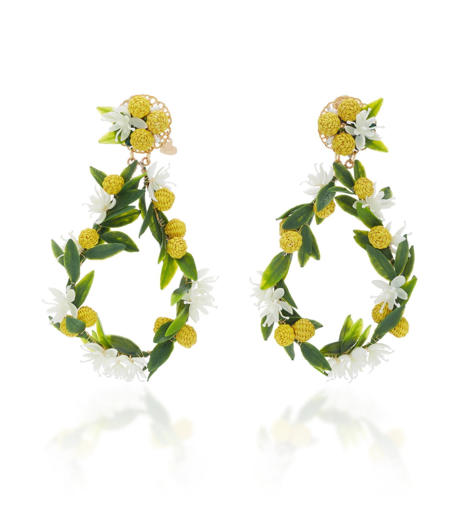 we adore these whimsical  citrus statement earringS !