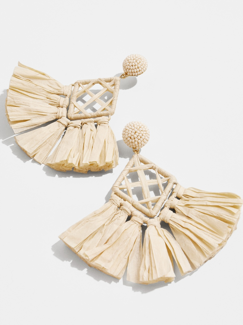 make a statement with these  oversized natural earrings  for under $45!