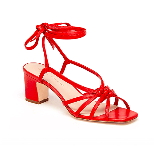 put a pep in your step with these  red knotted sandals !