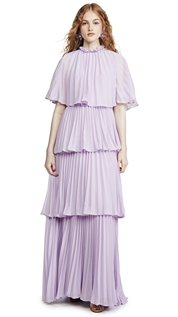 hello color crush! we can't believe the great price on this  lilac pleated maxi dress !