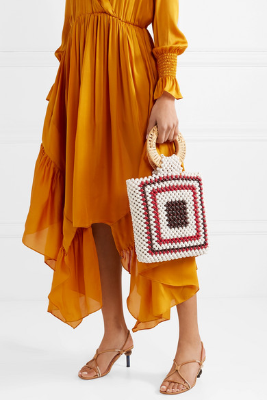 snap up this  beaded tote  while it's 50% off!