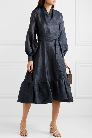 our go to  navy wrap dress  is a score right now!