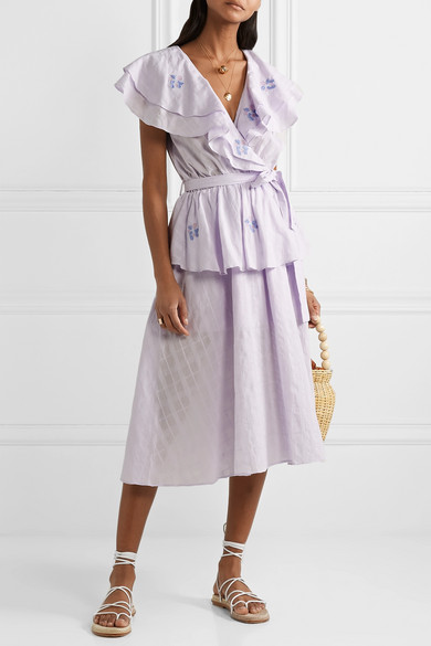 this  lilac tiered dress  is on sale for under $200!